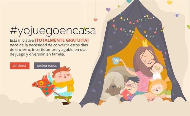 Imagen de la iniciativa 'yojuegoencasa' creada por Blue Unicorn de Murcia y Patios y Paques Dinámicos