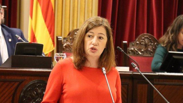 La presidenta del Govern, Francina Armengol, comparece ante la Diputación Permanente.
