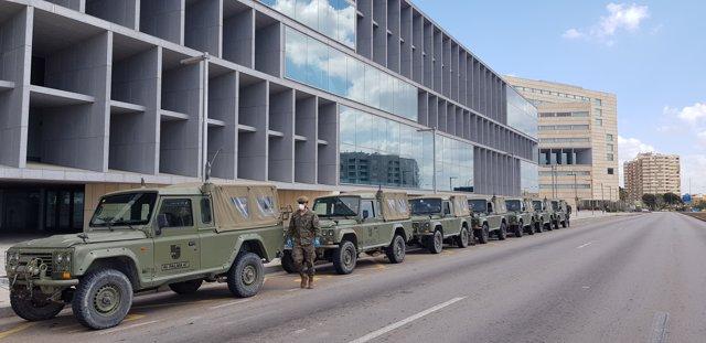 El Ejército medicaliza el Hotel Meliá Palma Bay