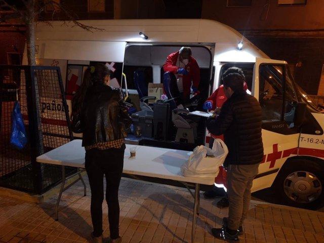 Cruz Roja refuerza la Unidad de Emergencia Social para atender a las personas sin hogar durante la crisis del COVID-19 en Cartagena