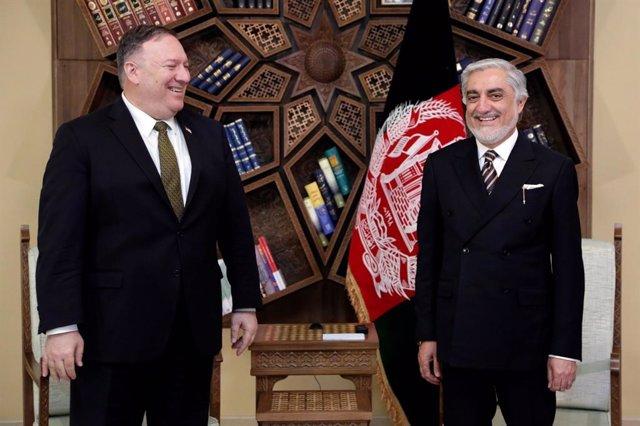 AMP.- Afganistán.- Pompeo se reúne por separado con Abdulá y Ghani en un intento