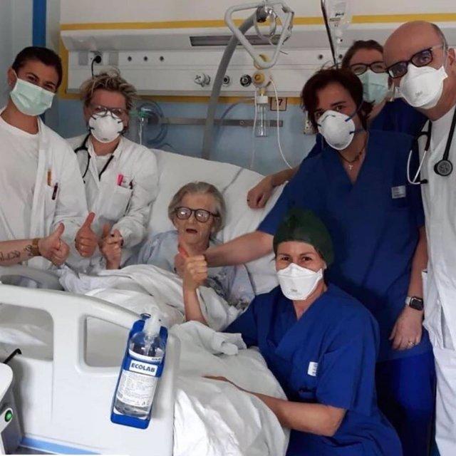 Mujer italiana de 95 años supera con éxito el coronavirus y se convierte en símbolo de esperanza para el mundo