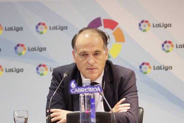 """Fútbol.- LaLiga """"apoyará"""" a los clubes que presenten un ERTE """"debido a la consid"""