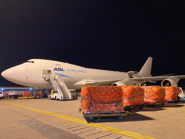 Donación de mascarillas de Alibaba Group a España