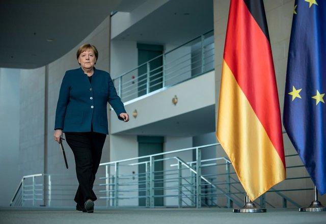 Coronavirus.- Merkel da negativo a la primera prueba de coronavirus