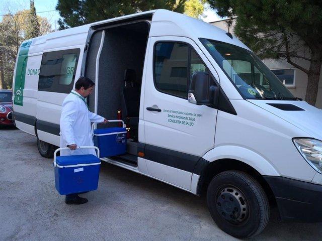 Unidad Móvil del Centro de Transfusion Sanguínea recorrera esta semana 9 localidades jiennense en su recogida de donaciones.
