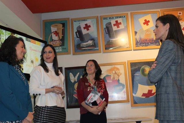 Coronavirus.- Los Reyes se interesan por el trabajo de Cruz Roja, ONCE, AECC y F