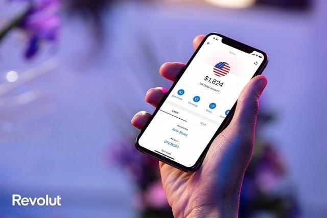 La app de Revolut en Estados Unidos