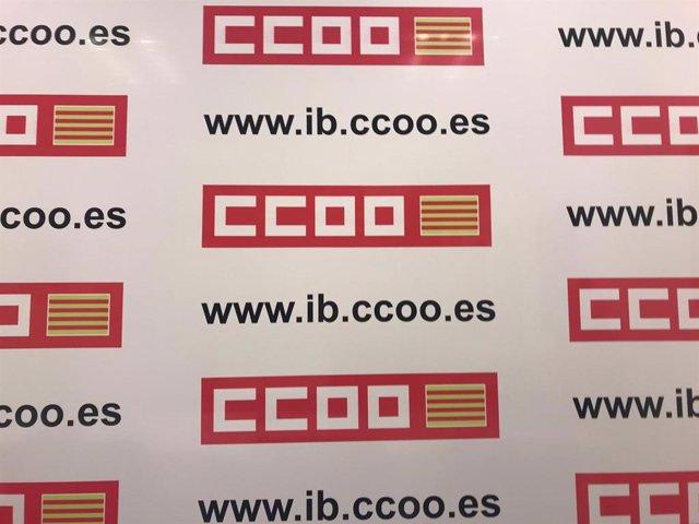 Sala de prensa de CCOO Baleares.