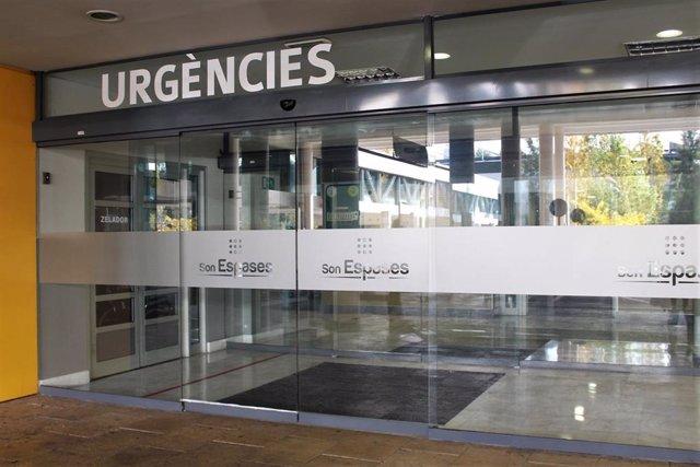 Puerta de Urgencias del Hospital de Son Espases.
