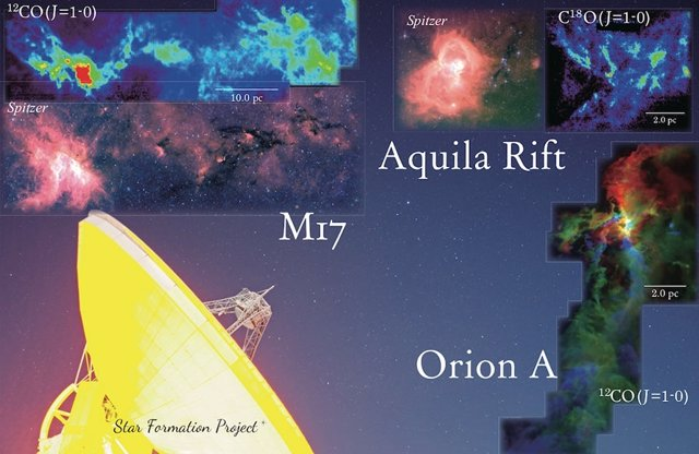 Mapean la formación estelar en nubes interestelares cercanas