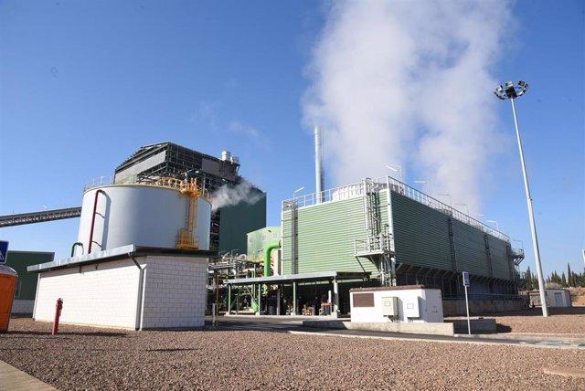 Planta de biomasa de Ence en Puertollano (Ciudad Real).