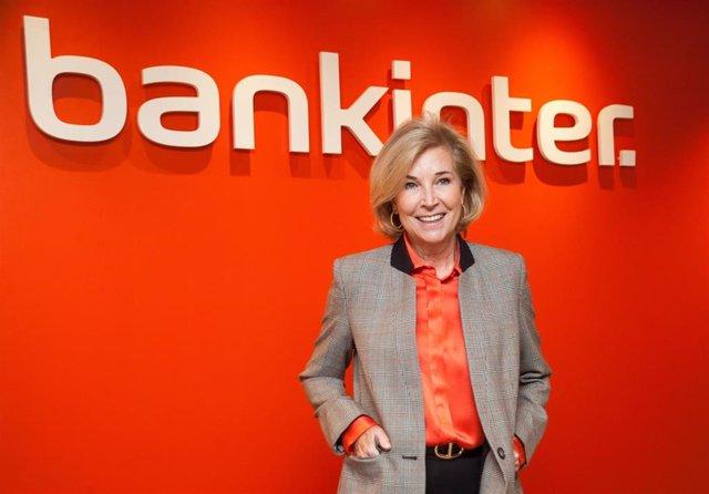 La consejera delegada de Bankinter, María Dolores Dancausa, en la presentación de resultados de 2019 en la sede del banco en Madrid.