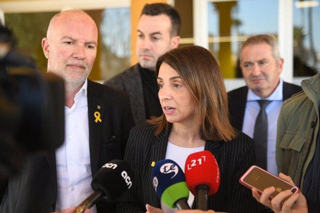 Declaraciones de la consellera de Presidencia de la Generalitat, Meritxell Budó, tras la primera reunión del Gabinete de Coordinación del Programa para mejorar la respuesta postemergencia en desastres naturales y otras emergencias