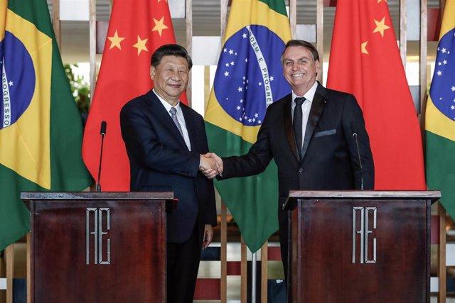Los presidentes de China, Xi Jinping, y de Brasil, Jair Bolsonaro