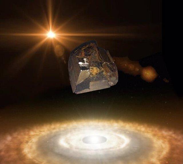 Ser observa superconductivad en meteoritos