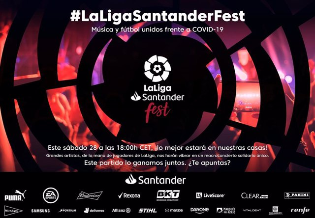 Fútbol.- 'LaLigaSantander Fest' une música y deporte para luchar contra el coron