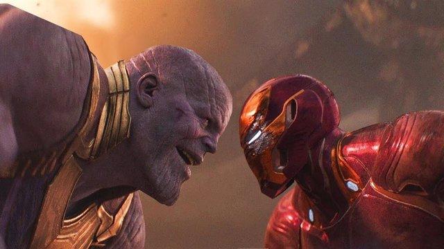 Thanos contra Iron Man en Vengadores: Infinity War