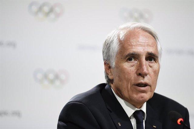 El presidente del Comité Olímpico Nacional Italiano (CONI), Giovanni Malagò