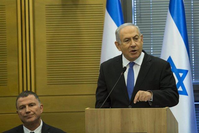 Yuli Edelstein y Benjamin Netanyahu
