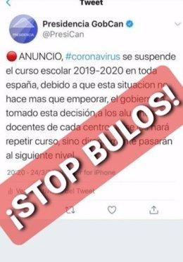 Bulo suplantando al Gobierno de Canarias