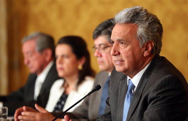Coronavirus.- Moreno dice que el 75% de los ecuatorianos está en casa pero subra
