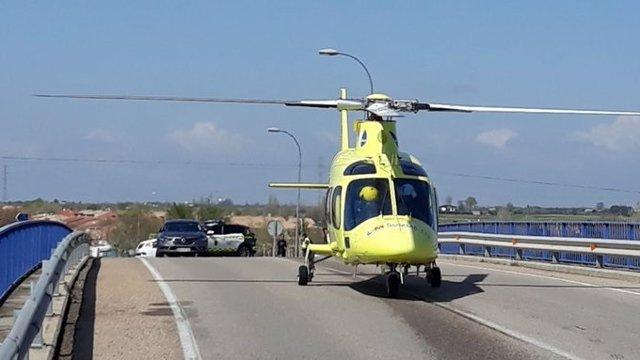 Un agente de la Guardia Civil ha sido atropellado en la A42 en Getafe por un vehículo que se ha saltado un control