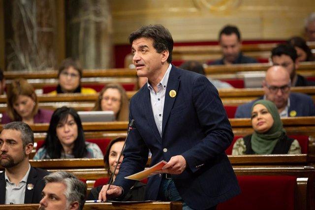 El presidente de ERC en el Parlament, Sergi Sabrià, en una imagen de archivo.
