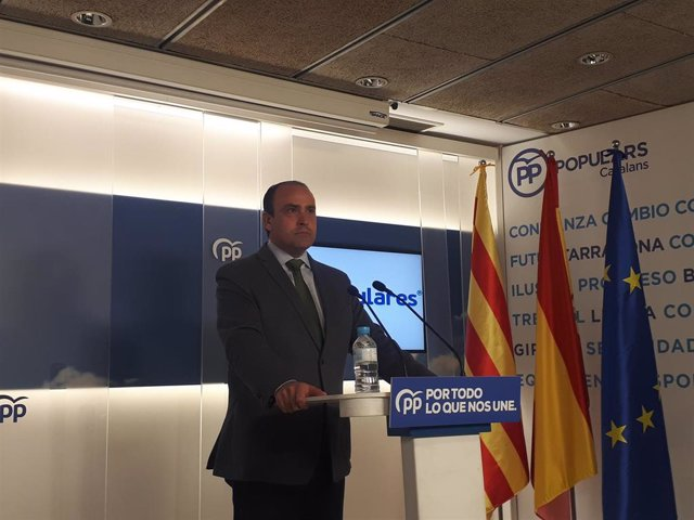 El secretario general del PP catalán, Daniel Serrano