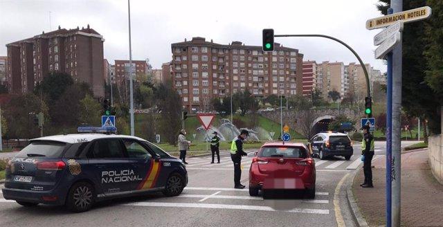 Control policial en Santander