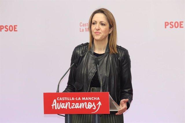 La portavoz del PSOE de Castilla-La Mancha, Cristina Maestre
