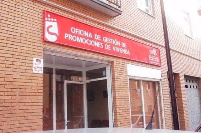 Imagen de una oficina de la Empresa Municipal de Suelo y Vivienda de la localidad madrileña de San Sebastián de los Reyes.