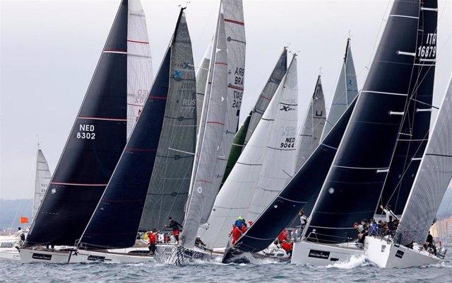 La flota de ORC compitiendo en la última edición de la Sail Racing PalmaVela