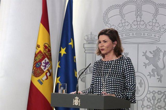 La secretaria general de Transportes y Movilidad, María José Rallo, interviene en la comparecencia para informar sobre los datos actualizados del virus donde han indicado que desde el último comunicado, se ha sufrido un incremento del 25% en el número de