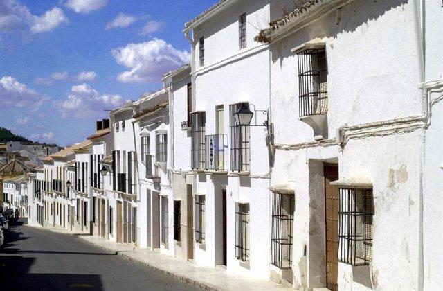 Calle vacía de Estepa
