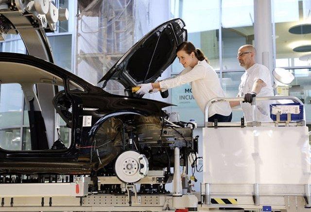 Imagen de una fábrica de Volkswagen.