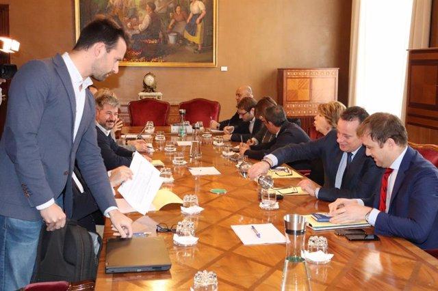 Reunión de Junta de Portavoces del parlamento asturiano