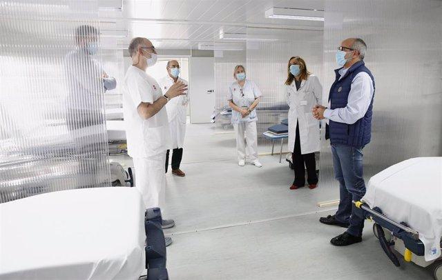 Puesto triaje coronavirus del Hospital Laredo