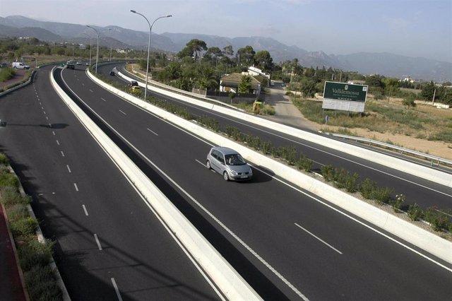 Carretera Valldemossa (Baleares).