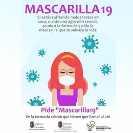 Campaña 'Mascarilla19' para proteger a mujeres víctimas de violencia de género durante el confinamiento