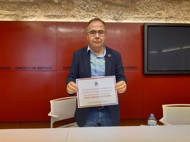 El alcalde de Santiago, Xosé Sánchez Bugallo.