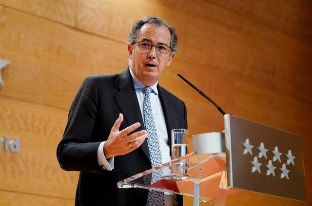 Imagen de recurso del consejero de Educación y Juventud de la Comunidad de Madrid, Enrique Ossorio.
