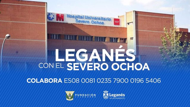 Fútbol.- El Leganés dona 200.000 euros al Hospital Severo Ochoa para luchar cont