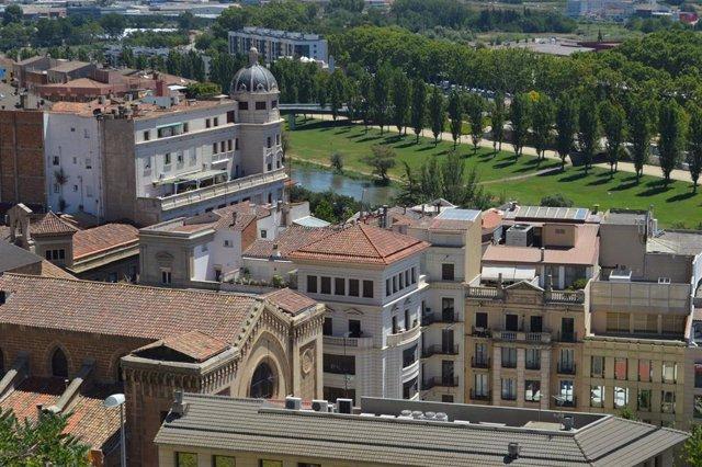 Vista de Lleida desde la Seu Vella