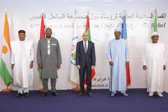 Los presidentes del G-5 Sahel