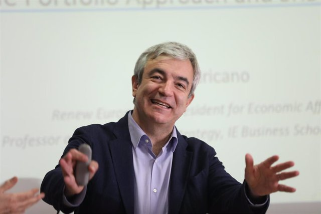 El eurodiputado de Ciudadanos, Luis Garicano interviene sobre 'Cómo resucitar la Unión Bancaria' y comenta el estado actual de las negociaciones sobre el tema, en un acto organizado por Fedea, en Madrid (España), a 24 de febrero de 2020.