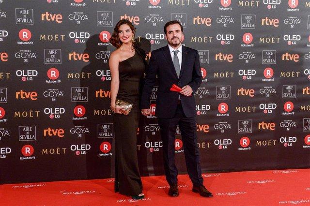 Alberto Garzón y Anna Ruiz, en los Goya 2018