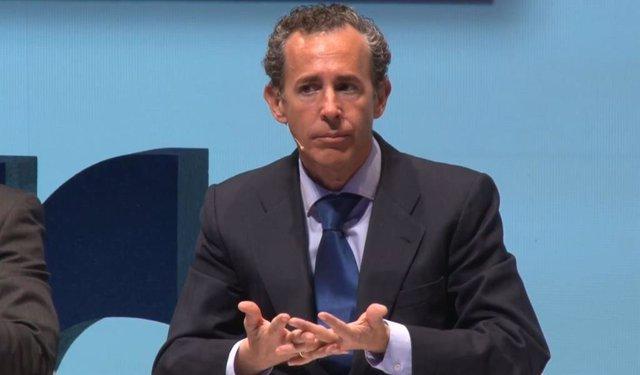 El consejero delegado y codirector de inversiones de Azvalor, Álvaro Guzmán de Lázaro, en la V conferencia anual de inversores, este lunes.