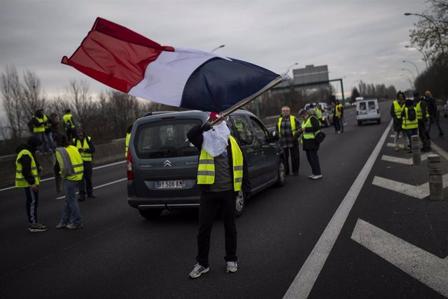 Imágenes de las concentraciones en Toulouse en el quinto sábado de protestas de los chalecos amarillos en Francia