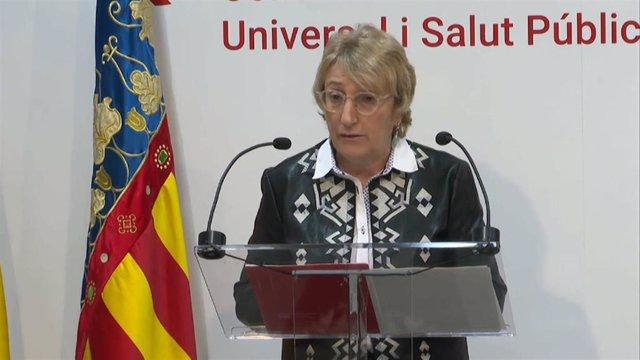 Rueda de prensa de la consellera de Sanidad de la Generalitat Valenciana, Ana Barceló